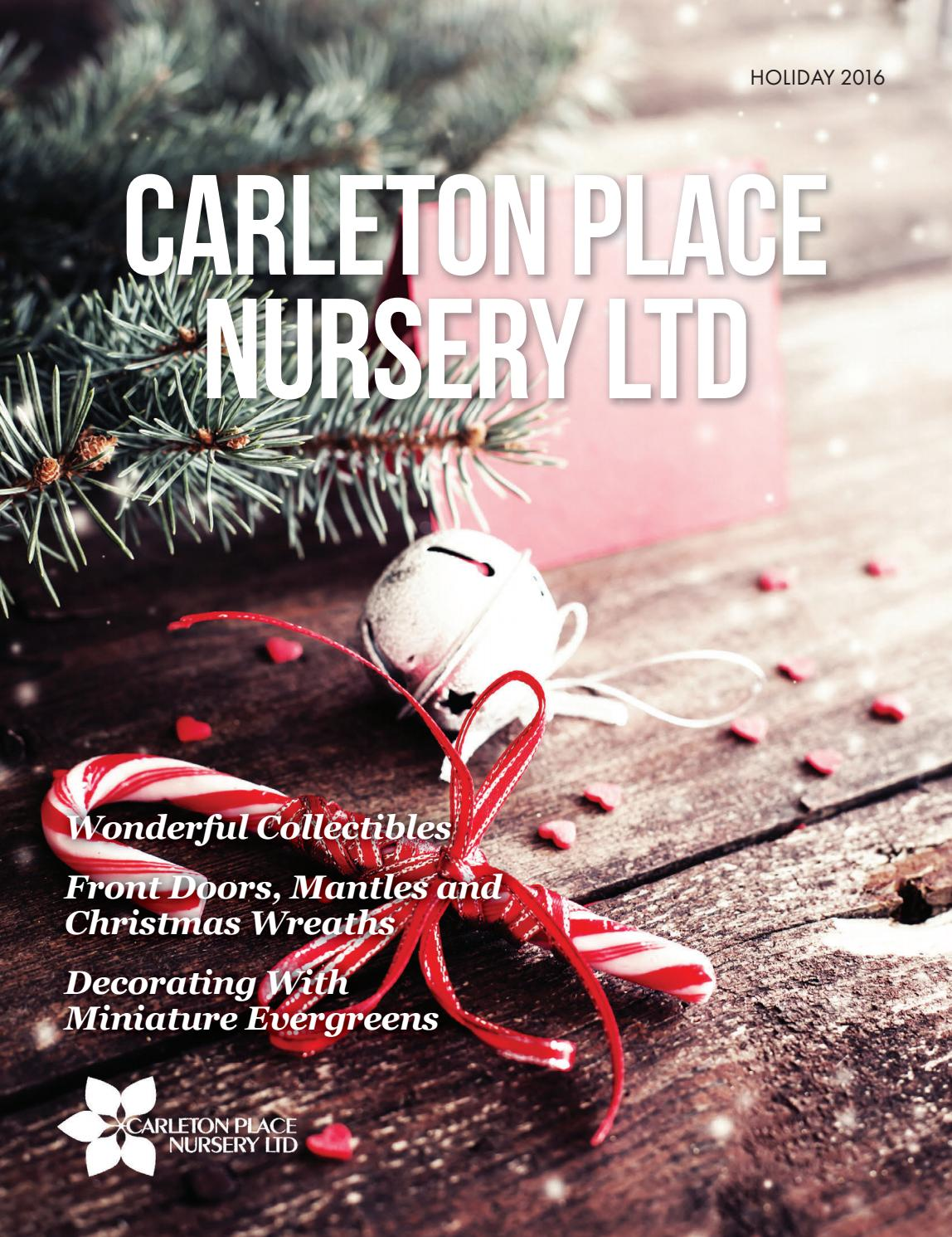 Carleton place nursery holiday 2016 by country road graphics inc ...