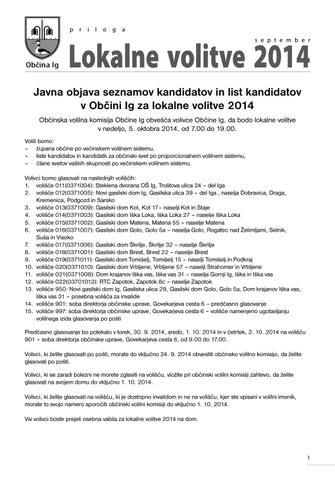 Mostiščar september 2014 - priloga lokalne volitve