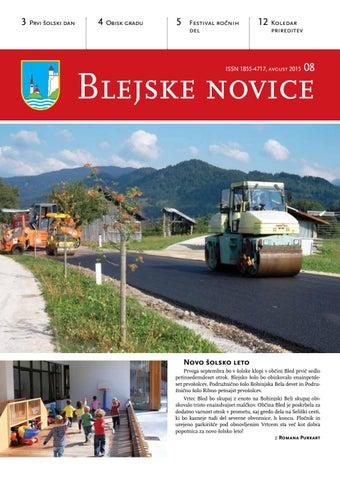 Blejske novice avgust 2015