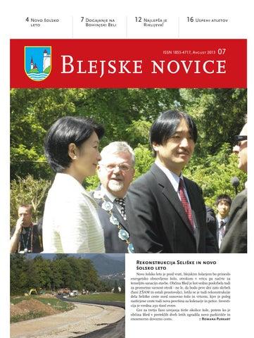 Blejske novice avgust 2013