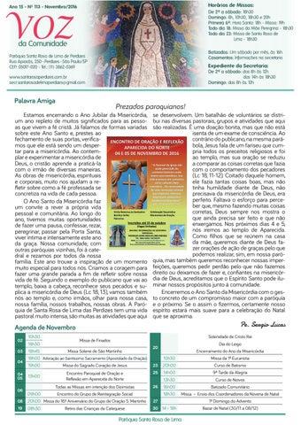 [Jornal Santa Rosa de Lima – Novembro/2016]