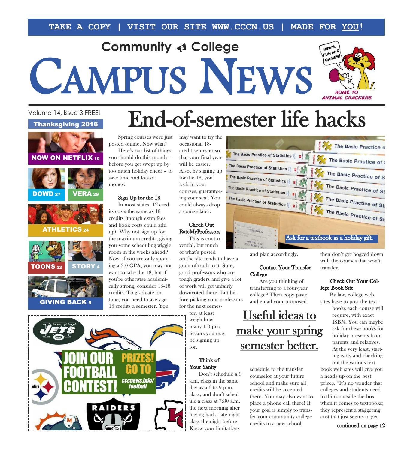 The Thanksgiving Issue Of Campus News By Campus News Issuu How To Calculate  Gpa Laguardia Solution