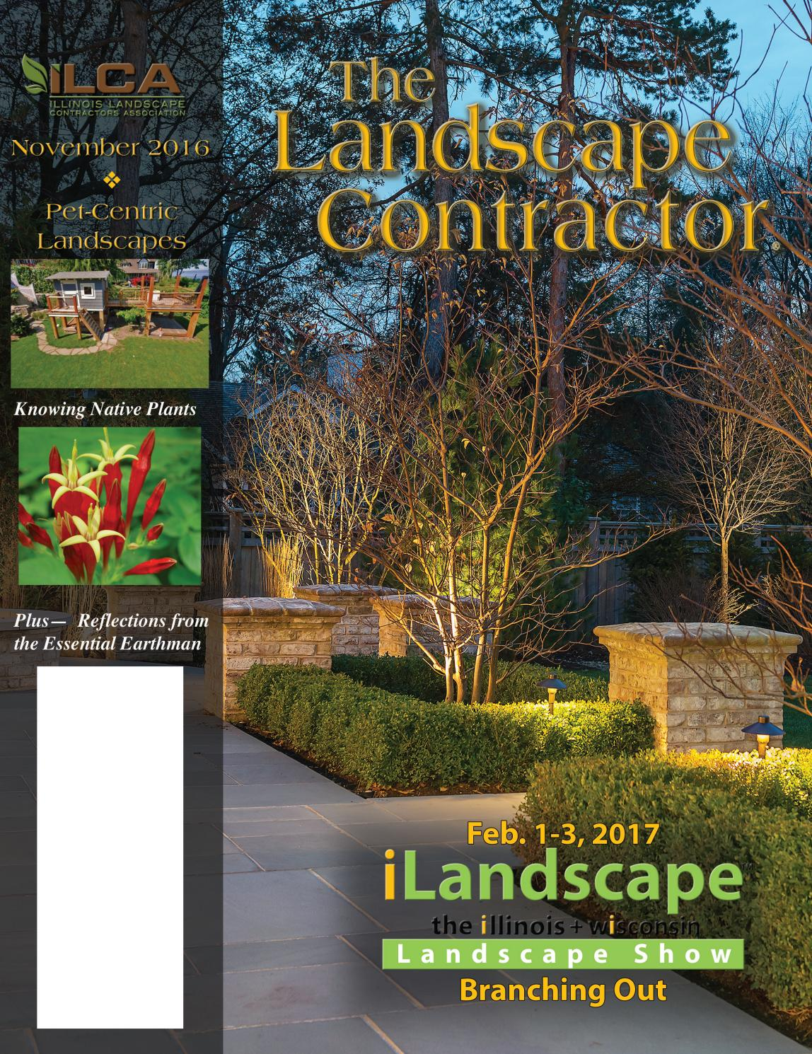 The Landscape Contractor Magazine December 2016 Digital Edition By