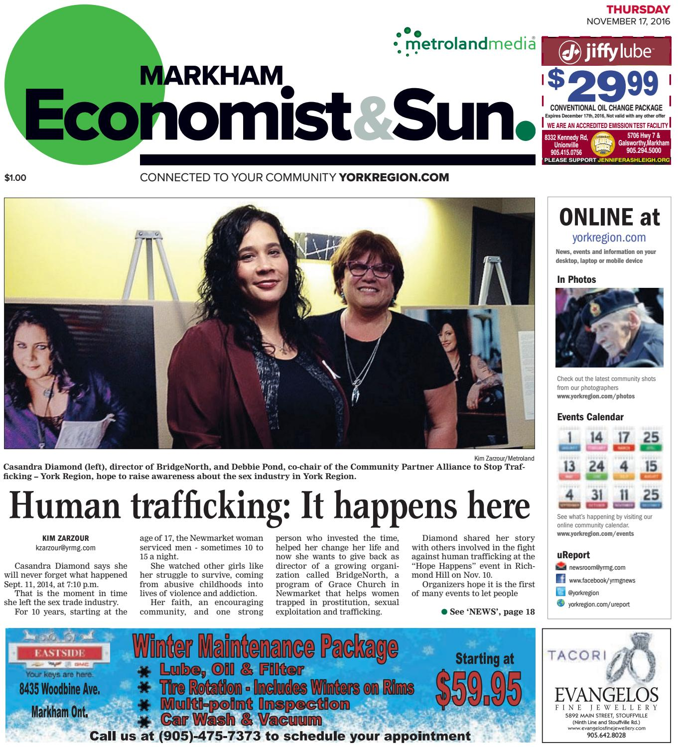 markham economist Markham life is the city of markham's official publication and #1 source for local information the magazine gives residents the opportunity to learn about programs.