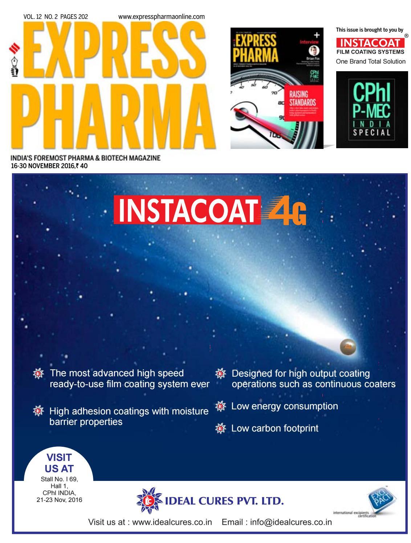 express pharma vol no by n express pharma vol 11 no 21 1 15 2016 by n express issuu