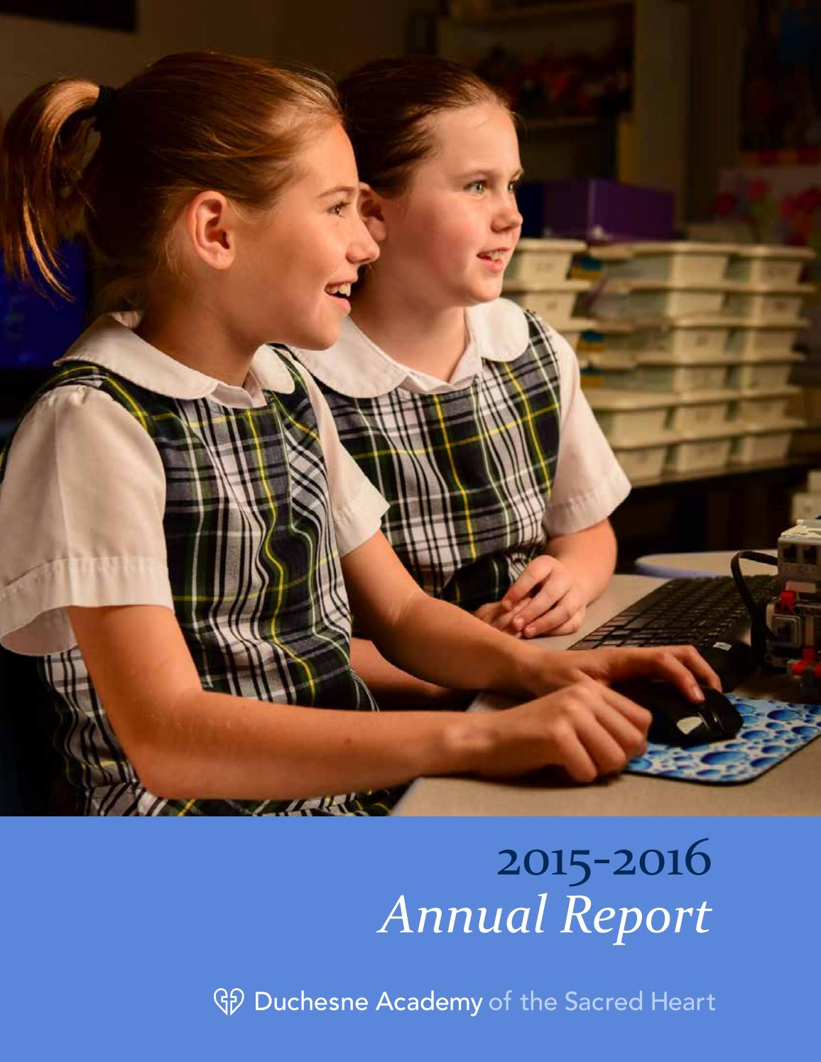 duchesne academy annual report by duchesne academy issuu 2015 2016 duchesne annual report