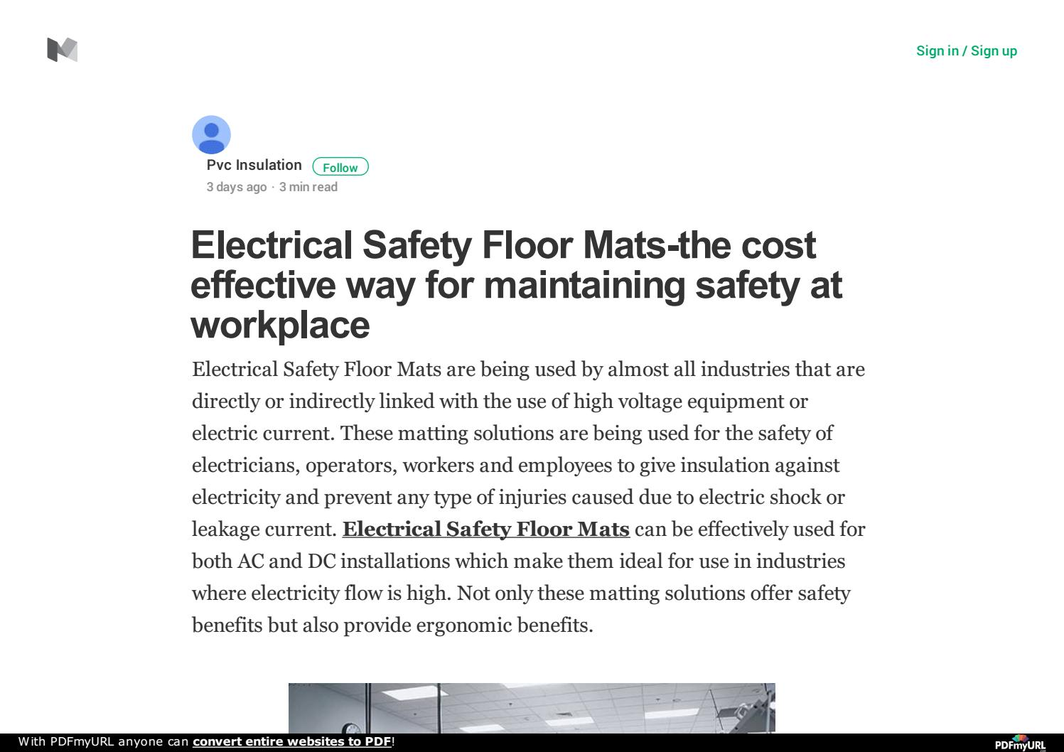 Floor mats cost - Electrical Safety Floor Mats The Cost Effective Way For Maintaining Safety At Workplace By Pvc Insulation Issuu