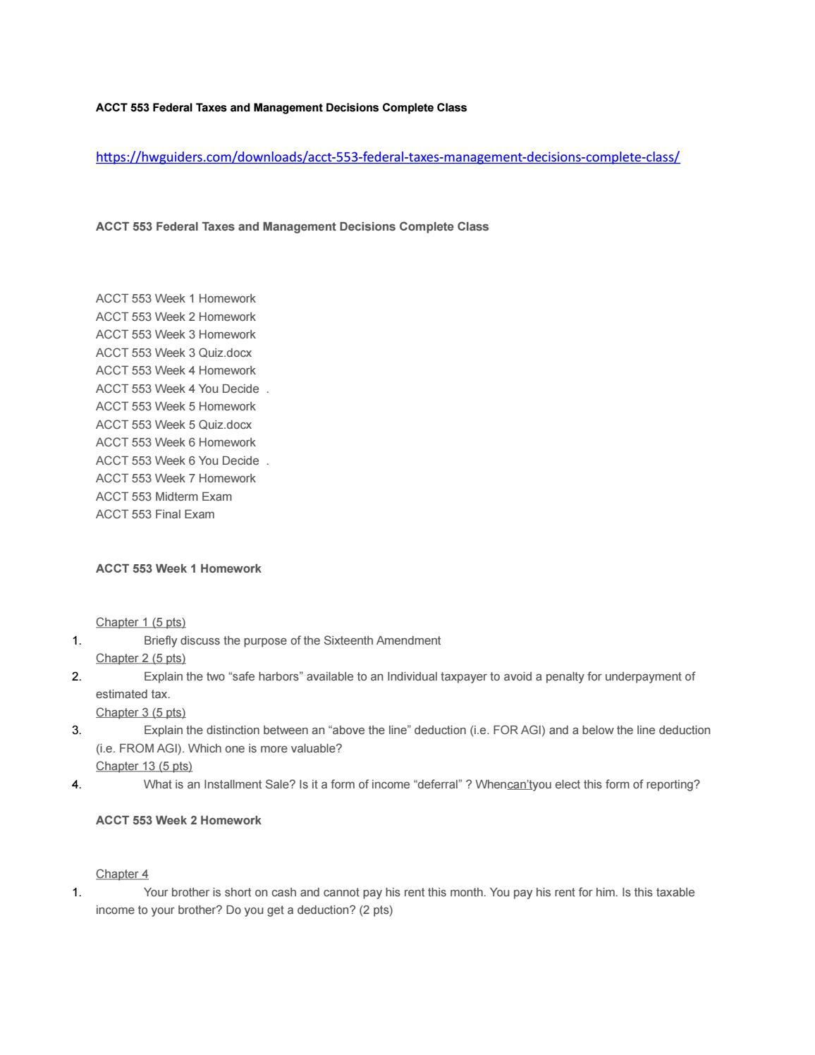 Acct 553 federal taxes final