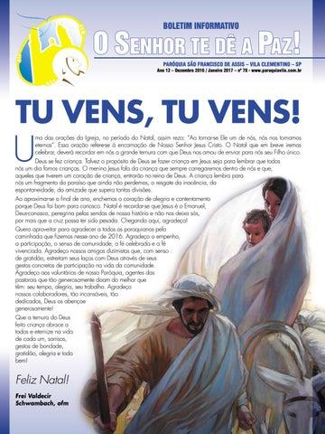 """[Informativo """"O Senhor te dê a Paz"""" Dezembro 2016]"""