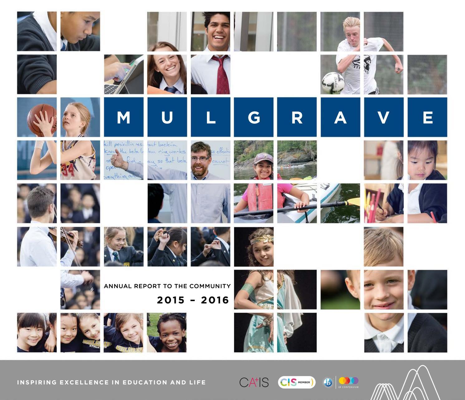 mulgrave school annual report by mulgrave school issuu mulgrave annual report 2015 2016