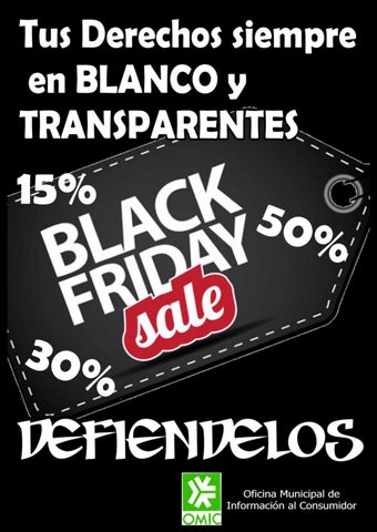 Campaña informativa Black Friday (OMIC)
