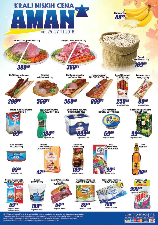 Nova vikend akcija od 25.- 27.11.2016. u Aman i Aman Plus supermarketima.