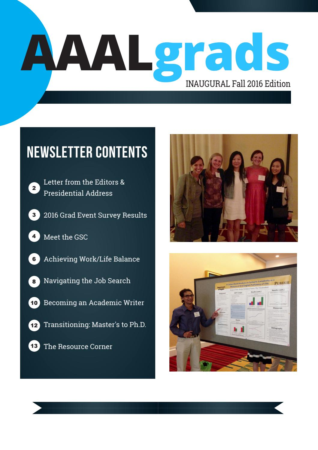 aaalgrad fall 2016 newsletter by laura hamman issuu