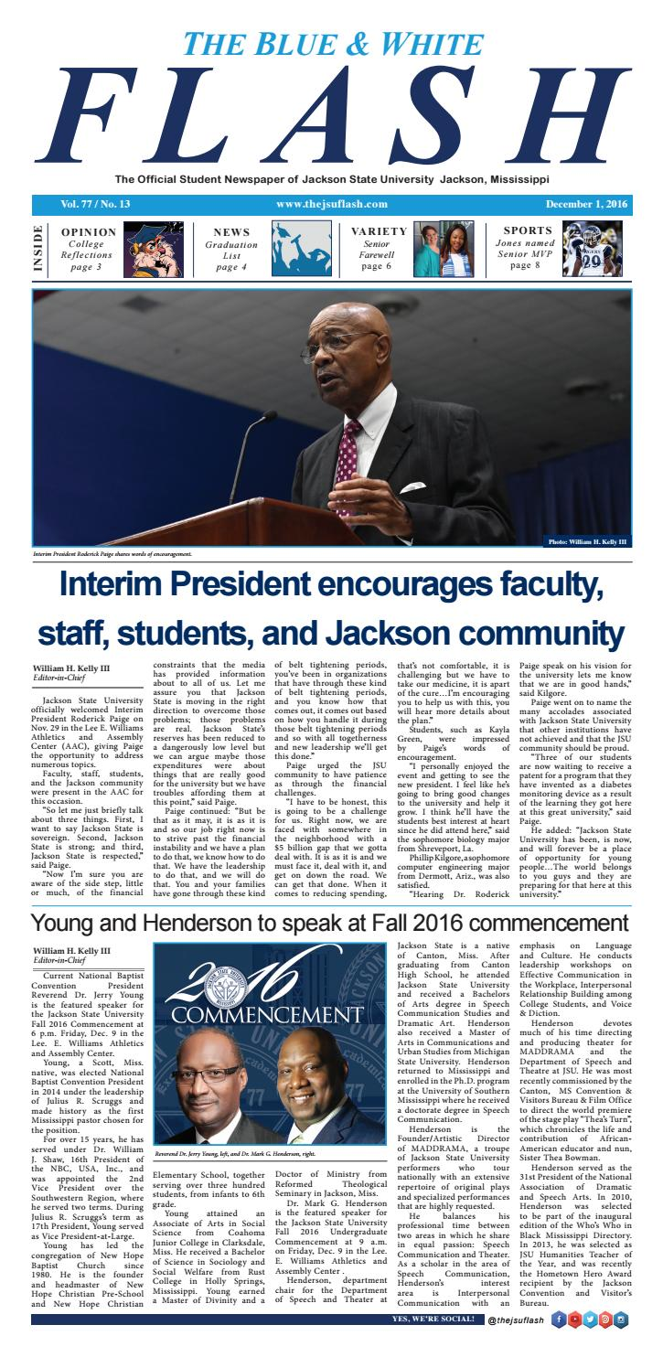 one jsu excellence awards by jackson state university issuu the blue white flash 1