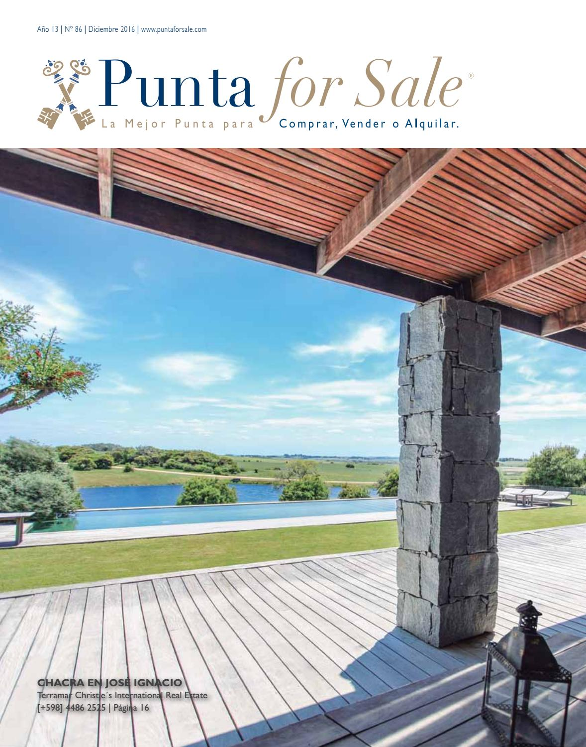 Revista de Real Estate Punta For Sale, edición # 86 Diciembre 2016