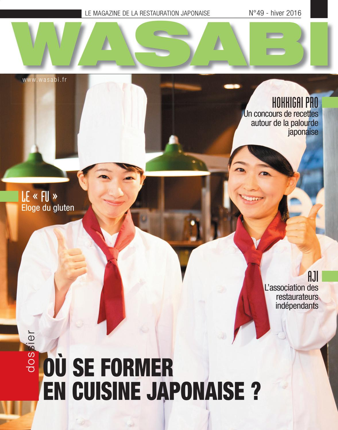 Wasabi 49 by wasabi issuu for Apprendre cuisine japonaise