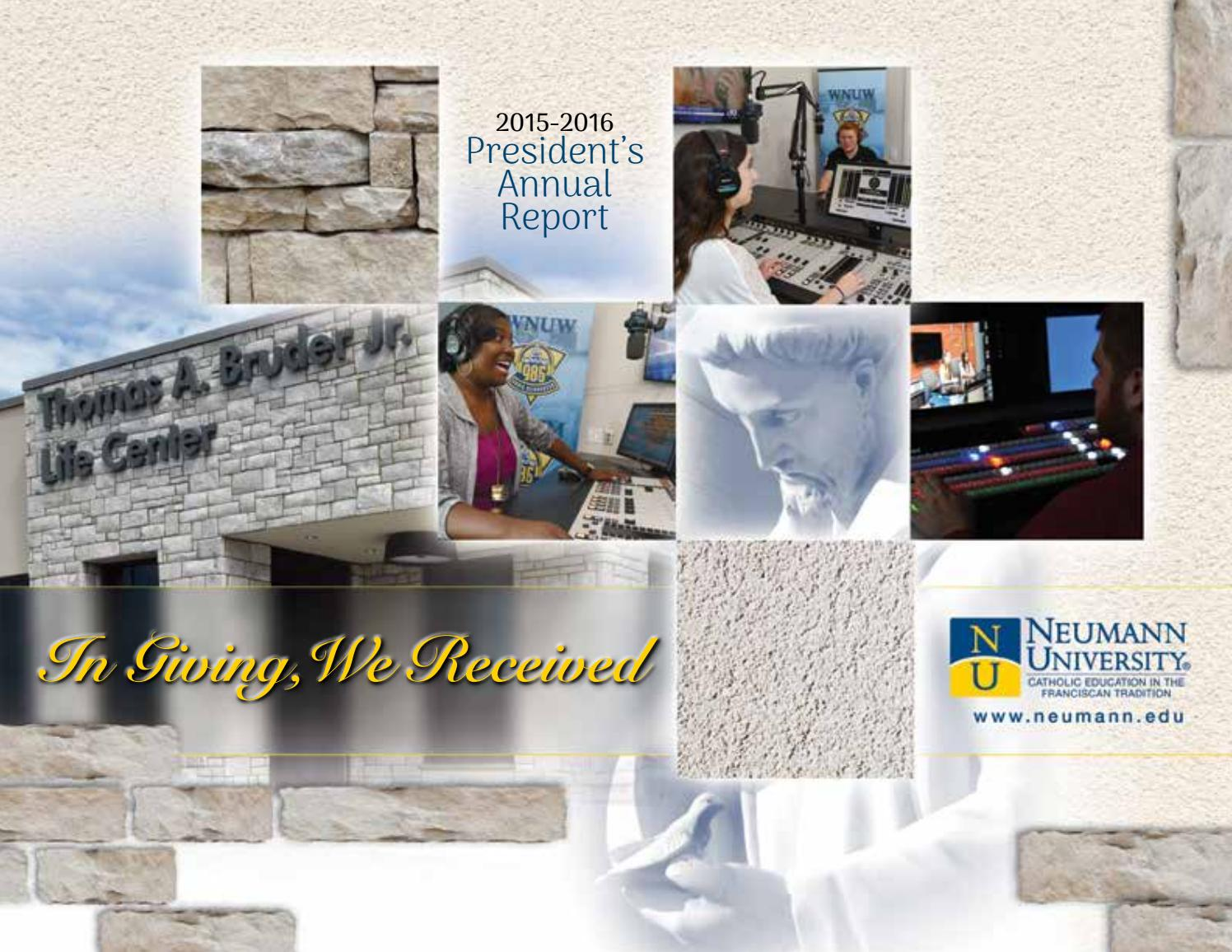annual report 2015 2016 by neumann university issuu