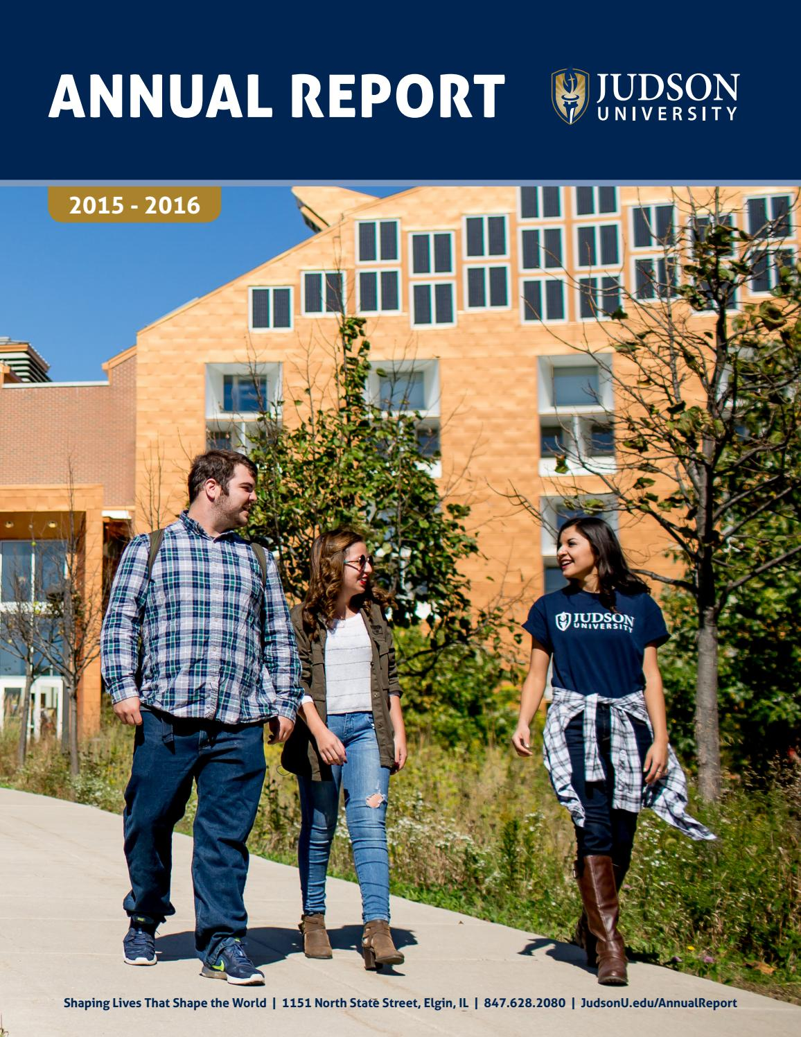 2016 annual giving report by judson university issuu