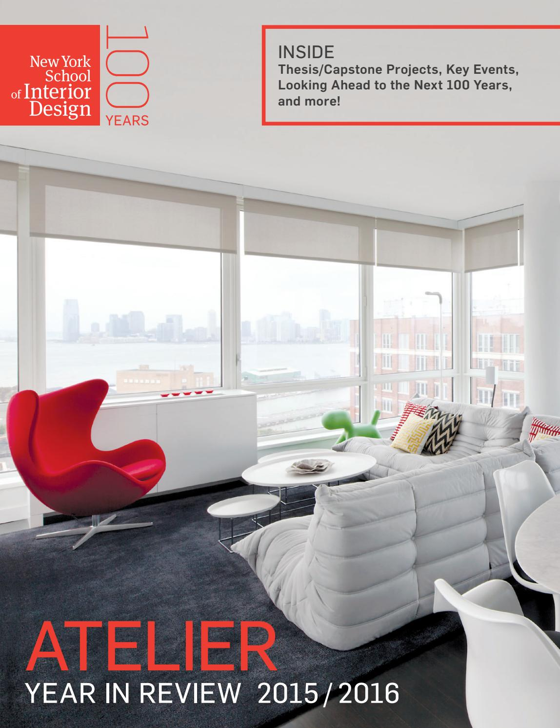 Atelier: year in review 2014/2015 by new york school of interior ...