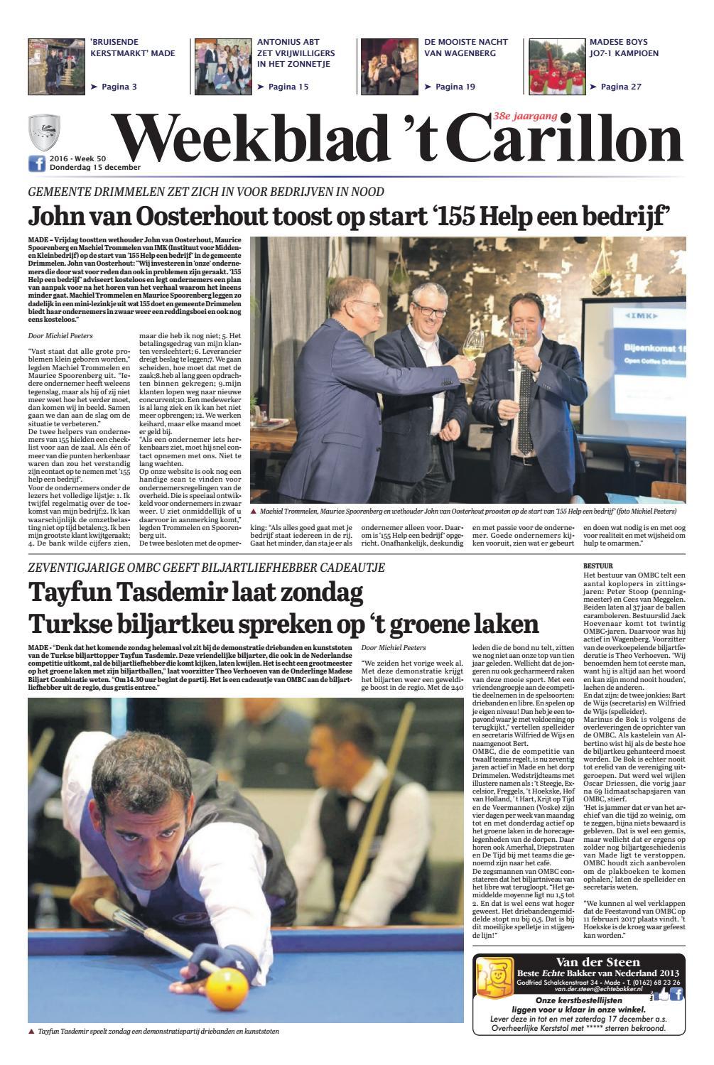 Weekblad 't carillon 21 04 2016 by uitgeverij em de jong   issuu