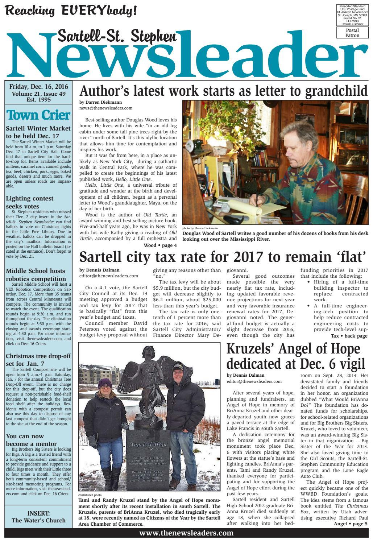 ^ Sartell-St. Stephen Newsleader - Dec. 16, 2016 by he Newsleaders ...