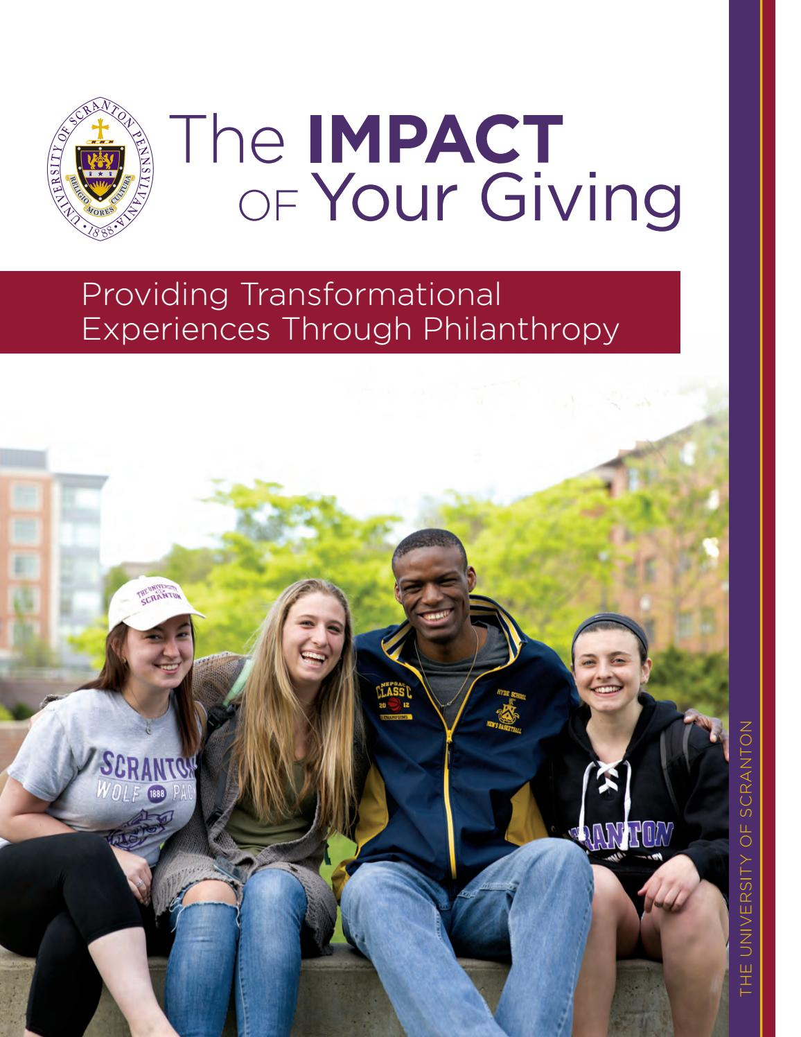 The University Of Scranton 2016 Philanthropy Impact Report