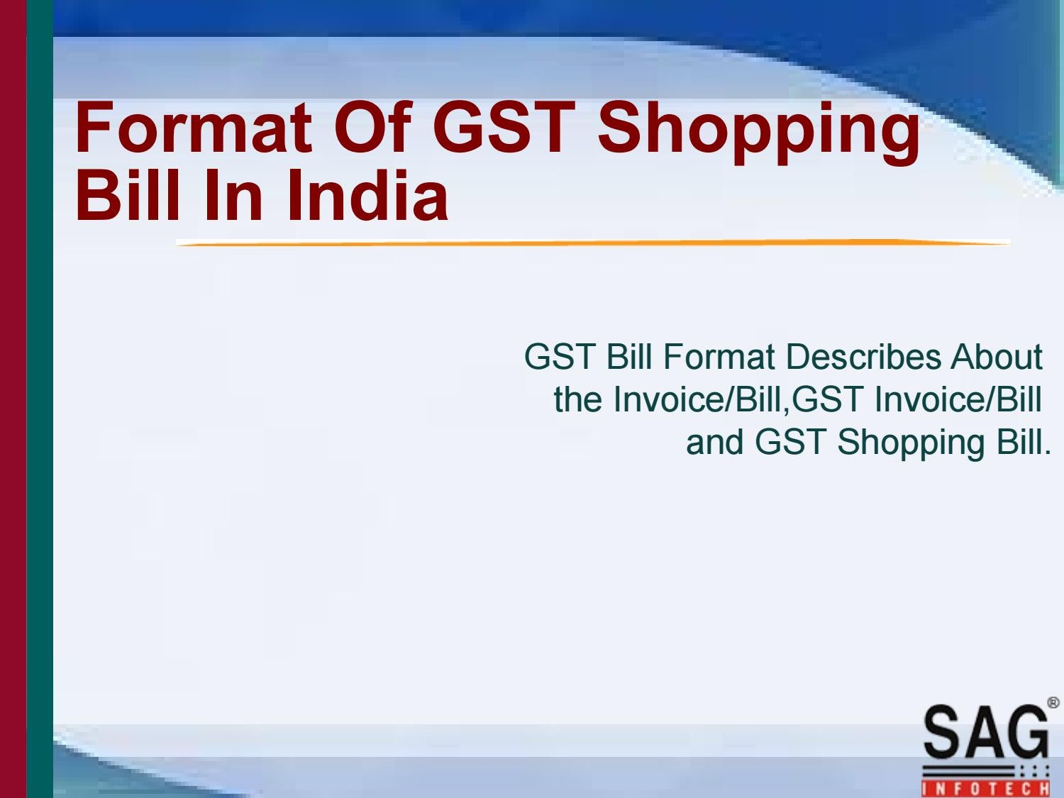 Commercial Invoice For International Shipping Download Gst Bill Format  Rabitahnet Printed Invoice Pdf with Receipt For Buying A Car Excel Gst Bill Format In India By Gst Mobile App  Issuu Invoice Templates How To Fill Out A Receipt Book For Rent Word