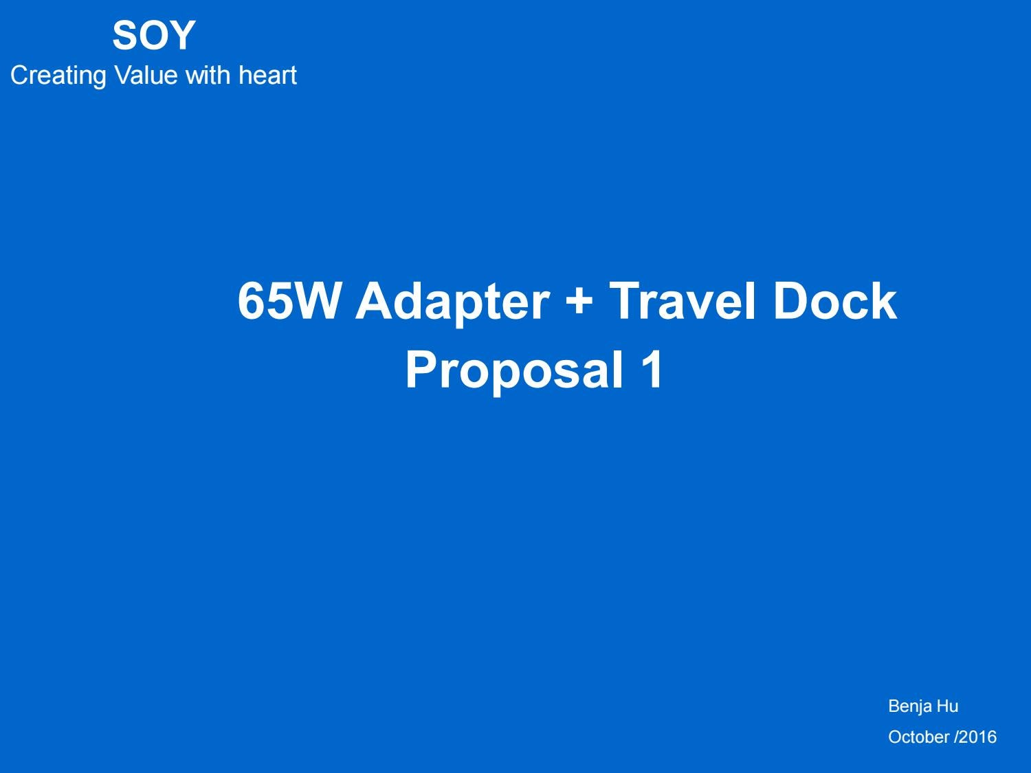 Soy 65w Dock Proposal 1 For Hp 160818 By Abby Issuu