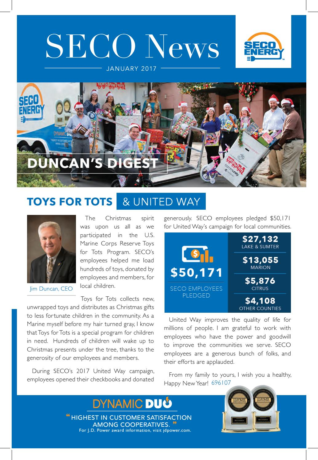 Toys For Tots 2017 Application : January seco news by energy issuu