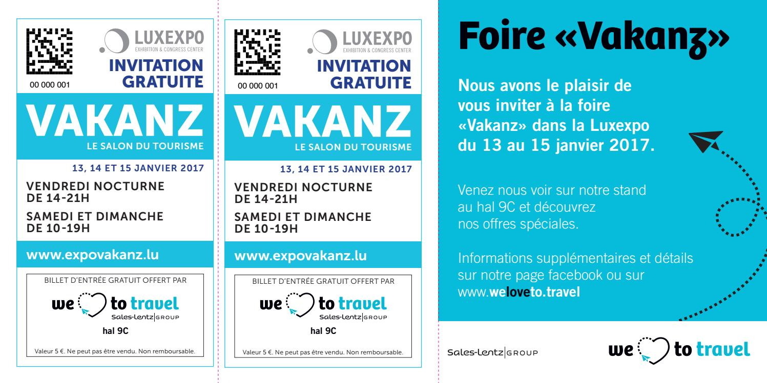 invitation foire vakanz 2017 fr by we love to travel issuu. Black Bedroom Furniture Sets. Home Design Ideas