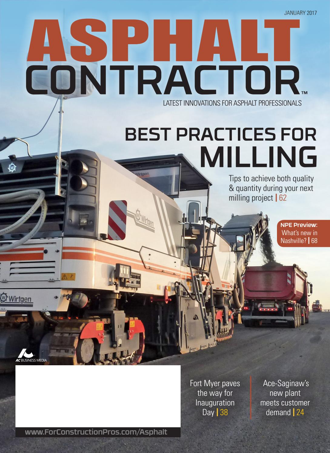 asphalt contractor january 2017 by forconstructionproscom