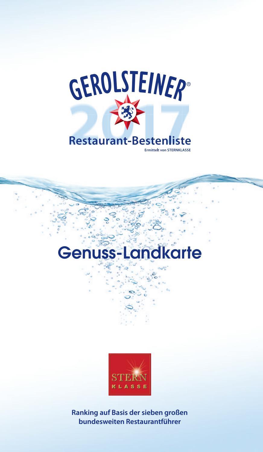 gerolsteiner restaurant-bestenliste 2017gerolsteiner brunnen