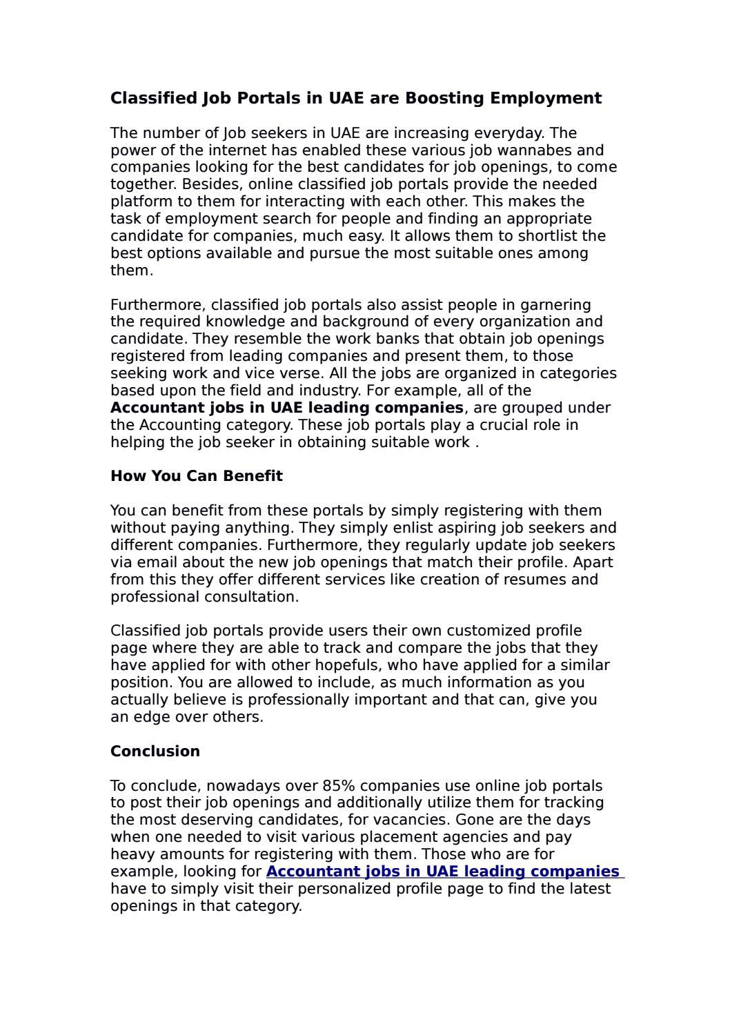 accountant jobs in uae leading companies by classify issuu