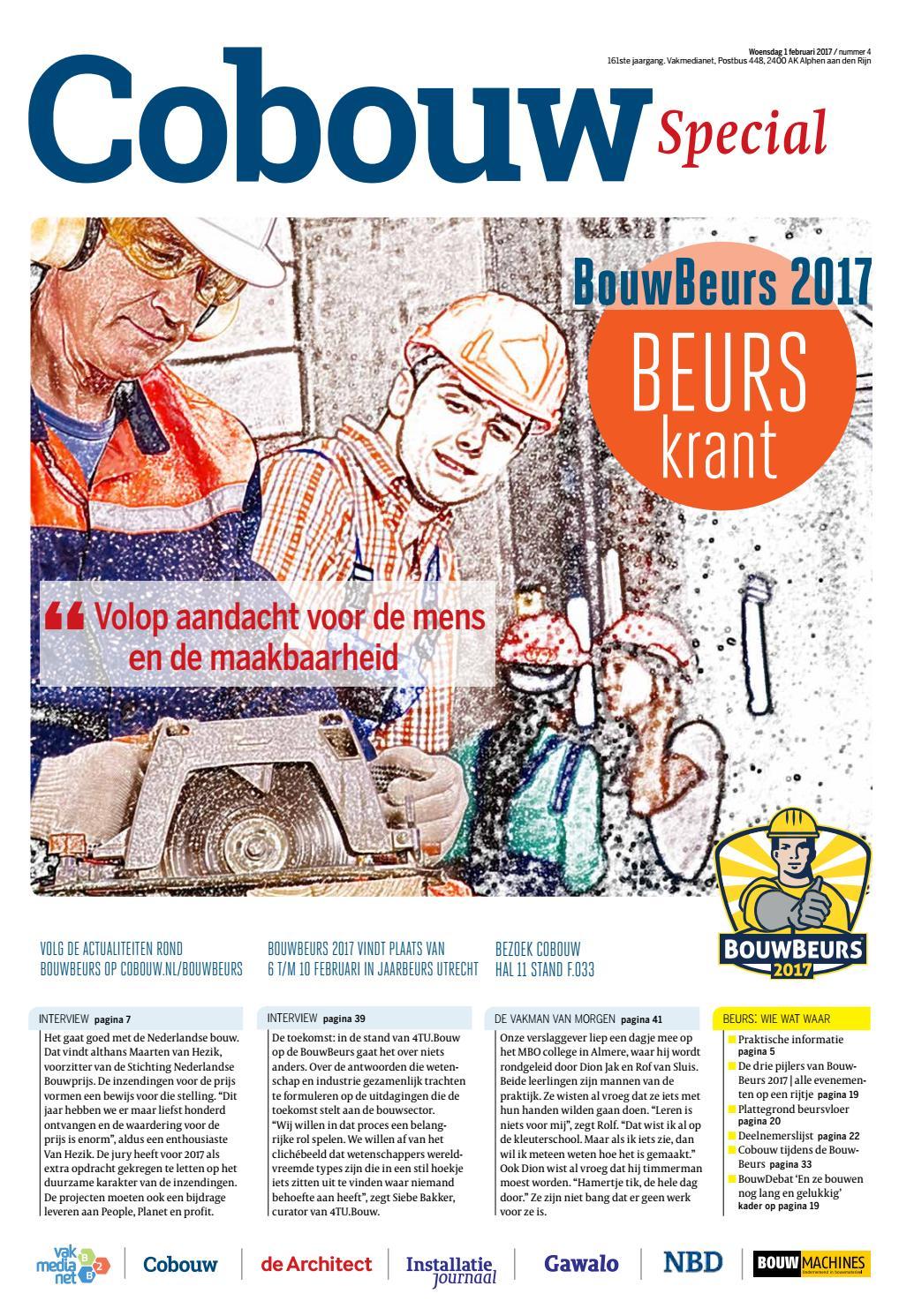 Bouwbeurs krant by cobouwspecials issuu for Bouwbeurs utrecht 2017