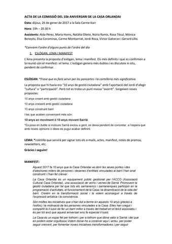 26-01-2017 - Acta reunió comissió 10è aniversari