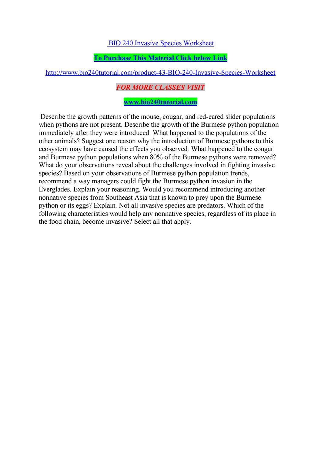 Free Worksheet Invasive Species Worksheet invasive species worksheet delibertad bio 240 by kelvinmanase02 page 1 issuu