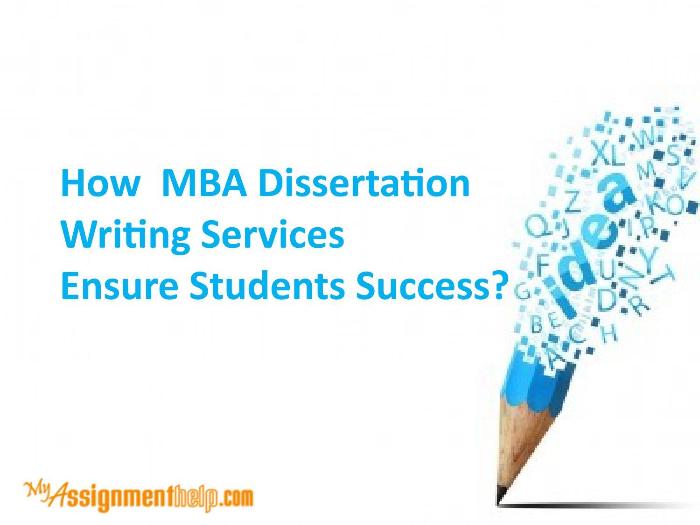 mba dissertation writing uk
