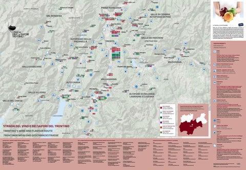 Mappa Strada del Vino e dei Sapori del Trentino