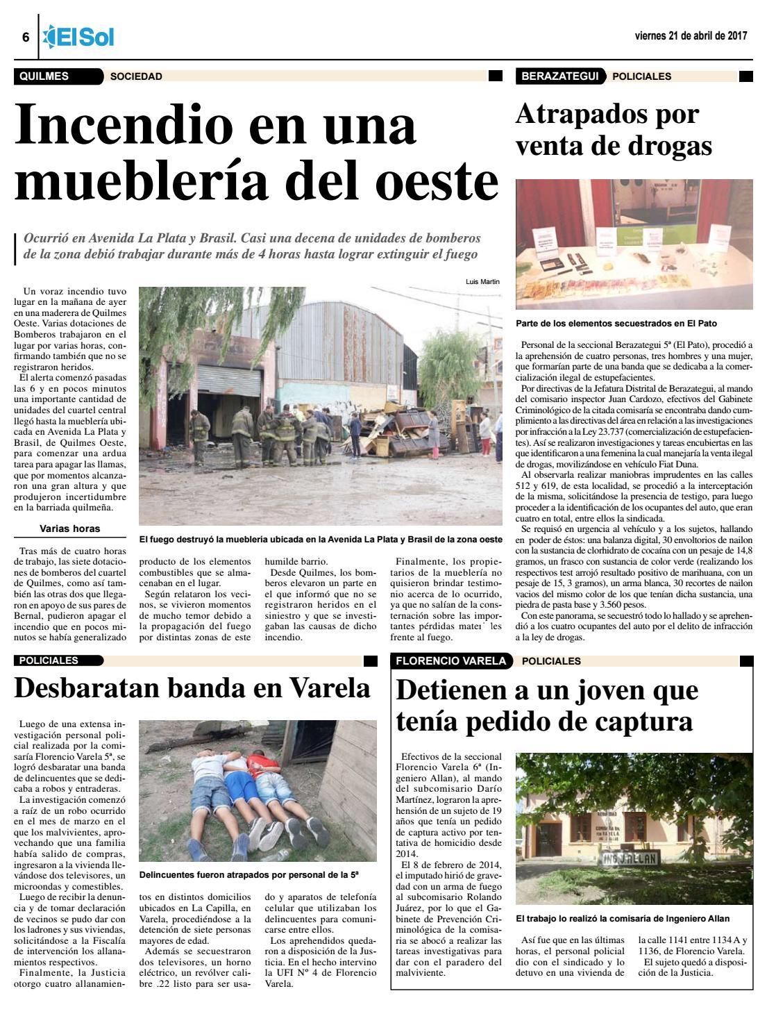 Diario el sol 21 04 2017 by el sol urbana page 6 issuu for Mueblerias en la plata