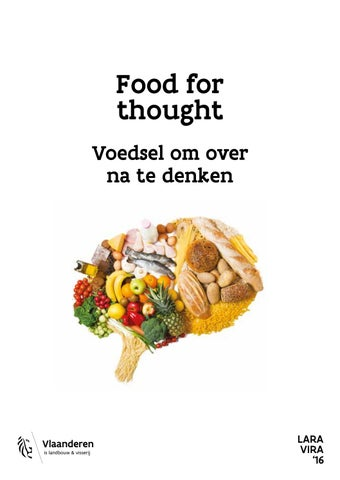 Food for thought. Voedsel om over na te denken