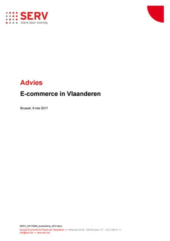 E-commerce in Vlaanderen. Advies