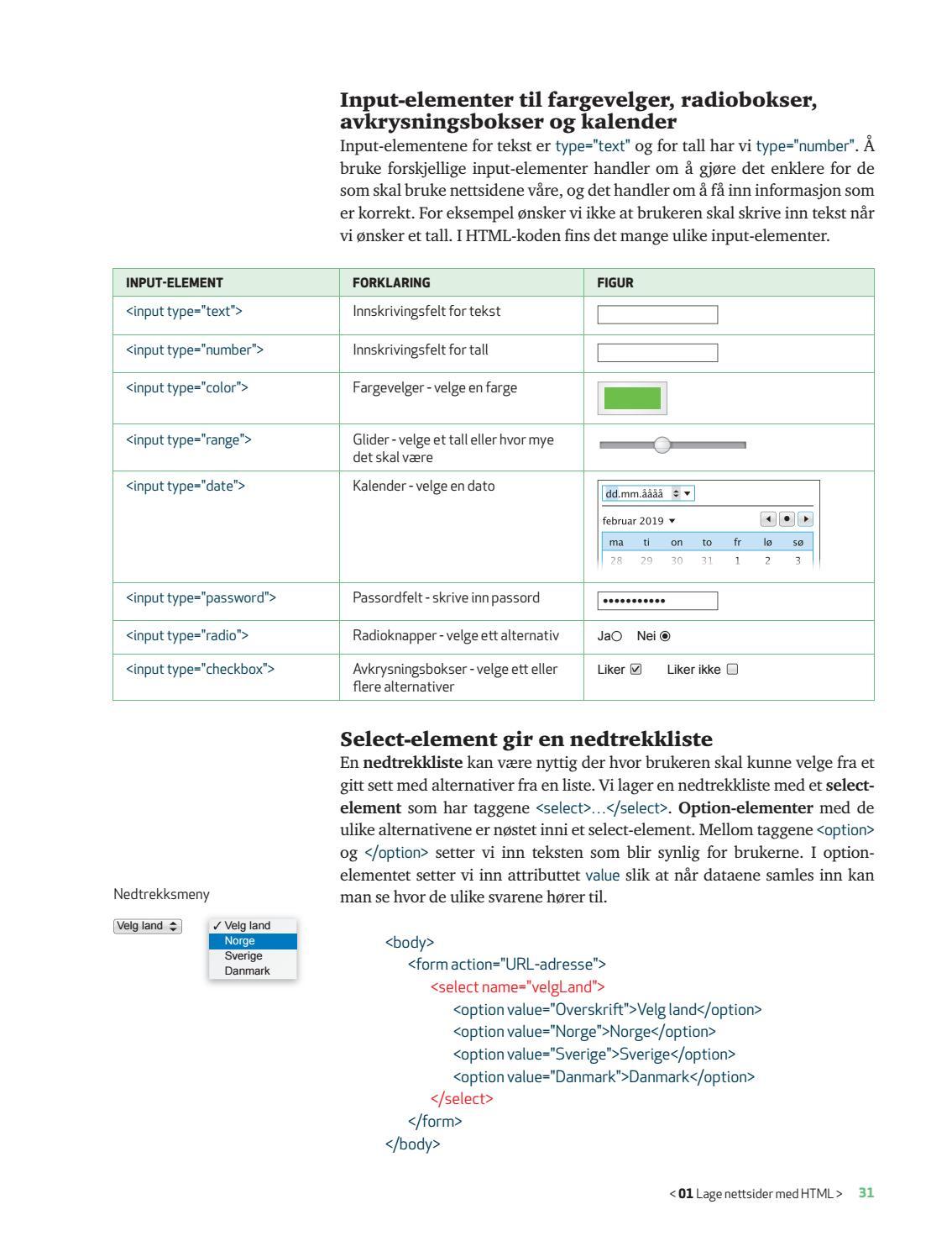 date nettsider