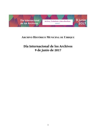 150 aniversario de la ordenación del Archivo de Ubrique