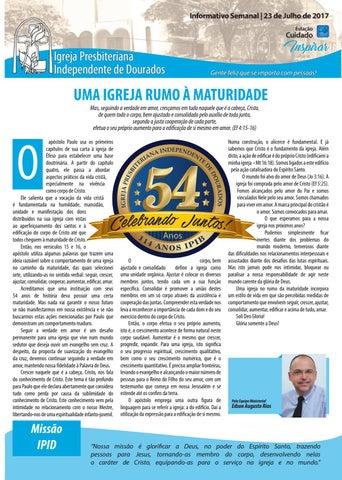 Boletim Informativo  IPID 23 de Julho 2017