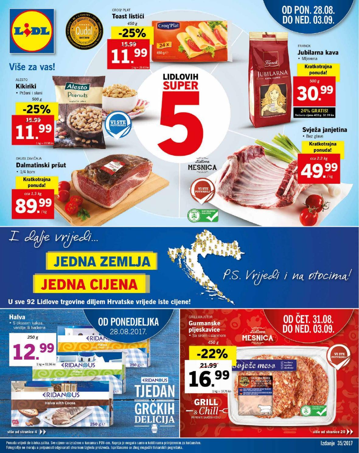 Pripremite se za novih Lidlovih super 5. Od ponedjeljka,  28.08.2017. Lidl vam predstavlja veliki izbor proizvoda po odličnim cijenama.