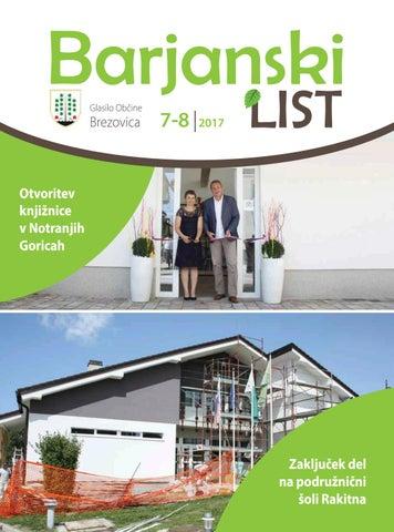 Barjanski list avgust 2017