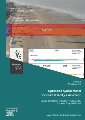 Optimized hybrid model for coastal safety assessment: source generation in DualSPHysics model, 2nd‐year progress report