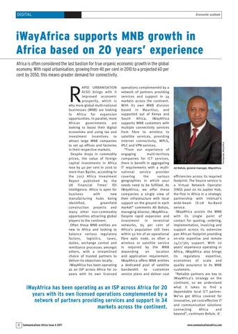 iWayAfrica supports MNB growth in Africa based on 20 years� experience