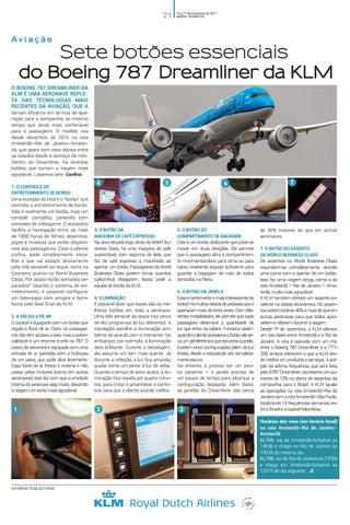 Quarta capa - Sete botões essenciais do Boeing 787 Dreamliner da KLM