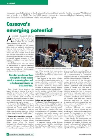 Cassava's emerging potential